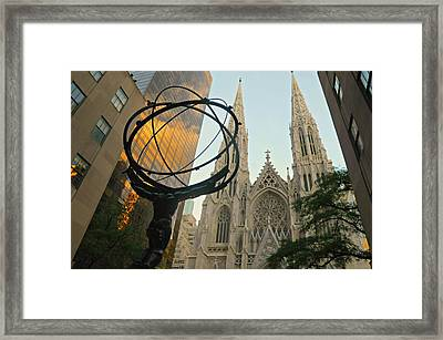 Cathedral And Sphere Framed Print by Diana Angstadt