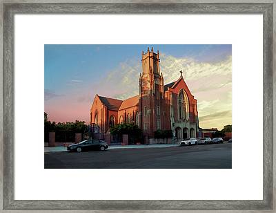 Cathedral At Dawn Framed Print by Terry Davis