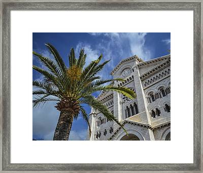 Framed Print featuring the photograph Cathedral At Monte Carlo by Allen Sheffield