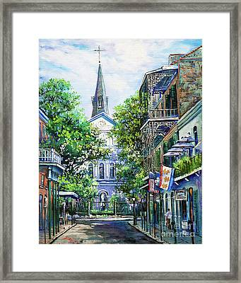 Cathedral At Orleans Framed Print by Dianne Parks