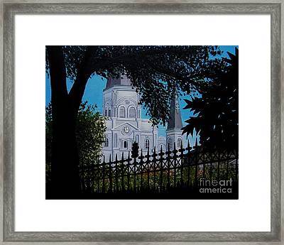 Cathedral At The Square Framed Print