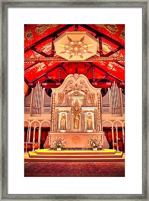 Cathedral Basilica Of St. Augustine Framed Print by Rich Leighton