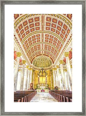 Cathedral-basilica Of The Immaculate Conception Framed Print