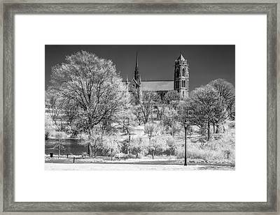 Cathedral Basilica Of The Sacred Heart Ir Framed Print by Susan Candelario