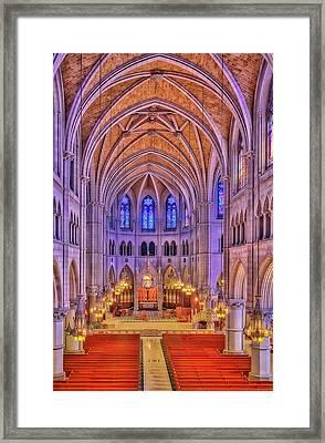 Cathedral Basilica Of The Sacred Heart Newark Nj II Framed Print by Susan Candelario