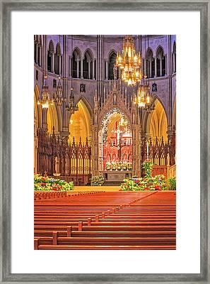 Cathedral Basilica Of The Sacred Heart Newark Nj Framed Print by Susan Candelario