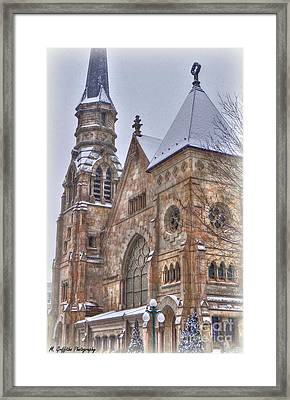 Cathedral Christmas Framed Print by Mike Griffiths