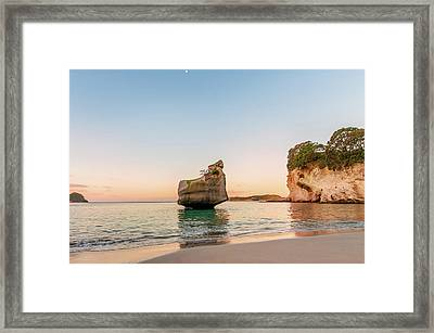 Cathedral Cove, New Zealand Framed Print