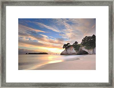 Cathedral Cove Framed Print by Photography By Anthony Ko