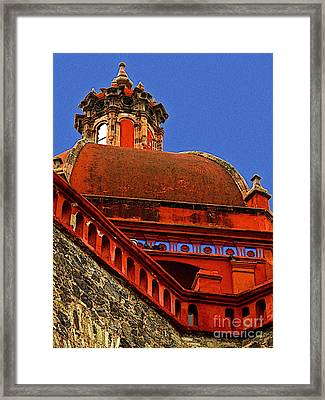 Cathedral Dome With Blue Framed Print by Mexicolors Art Photography