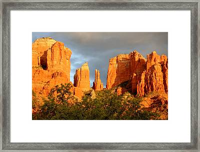 Cathedral Formation Framed Print by Ellen Heaverlo