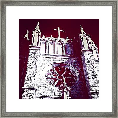 Cathedral In Archangel Glow Framed Print