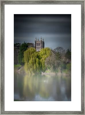 Cathedral In The Mist Framed Print
