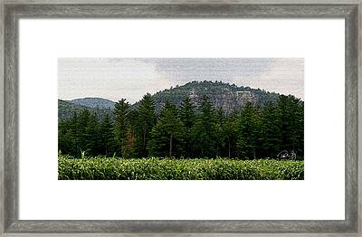 Cathedral Ledge North Conway Nh Framed Print by Paul Gaj