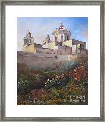 Cathedral Mdina Framed Print by Raymond Frans