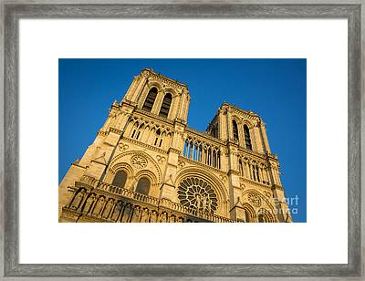 Cathedral Notre Dame At Sunset Framed Print by Brian Jannsen
