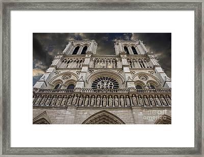 Cathedral Notre Dame Of Paris. France   Framed Print by Bernard Jaubert