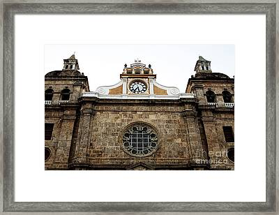 Cathedral Of Cartagena Framed Print by John Rizzuto