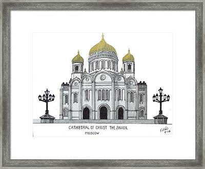 Cathedral  Of Christ The Savior - Moscow Framed Print