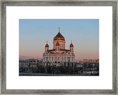 Cathedral Of Christ The Saviour In Moscow, Russia Framed Print by Ivan Batinic
