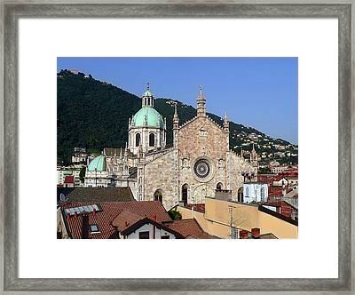 Cathedral Of Como Framed Print