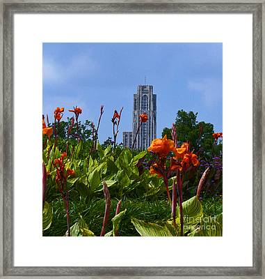 Cathedral Of Learning Framed Print