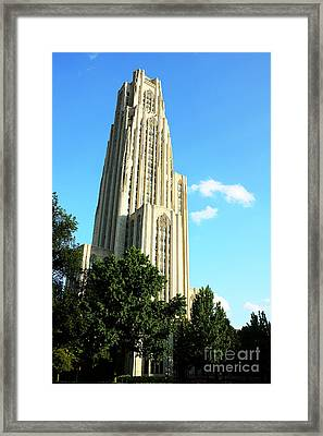 Cathedral Of Learning Framed Print by Thomas R Fletcher
