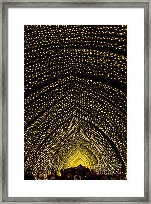 Cathedral Of Light - Vivid Sydney Framed Print by Bryan Freeman