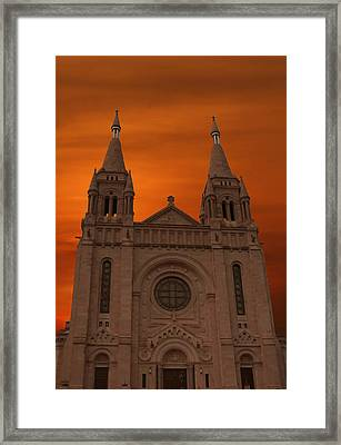 Cathedral Of Saint Joseph Sioux Falls Framed Print