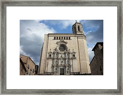 Cathedral Of Saint Mary Of Girona Framed Print