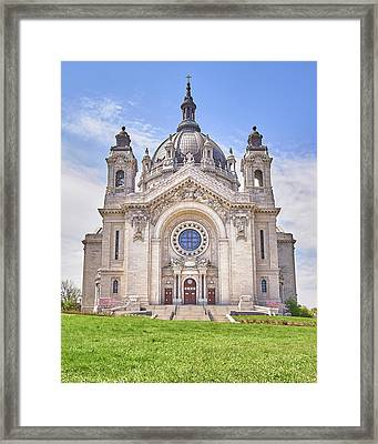 Cathedral Of Saint Paul, In St. Paul Minnestoa Framed Print by Jim Hughes