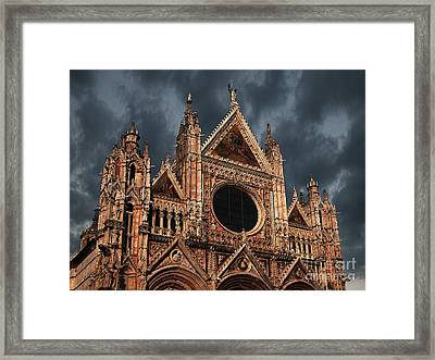 Cathedral Of Siena Framed Print by Jim Wright