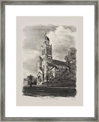 Cathedral Of St John The Evangelist Framed Print by Ron Landry