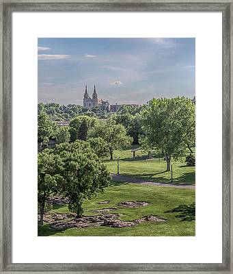 Framed Print featuring the photograph Cathedral Of St Joseph #2 by Susan Rissi Tregoning