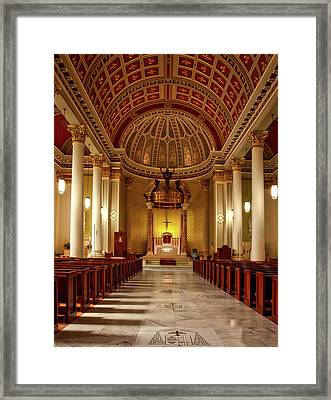 Cathedral Of The Immaculate Conception - Mobile Alabama Framed Print