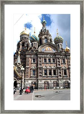 Cathedral Of The Spilled Blood C258 Framed Print by Charles  Ridgway