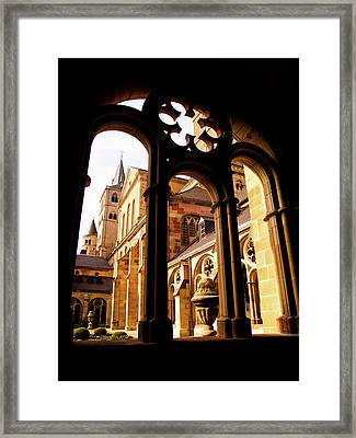 Cathedral Of Trier Window Framed Print
