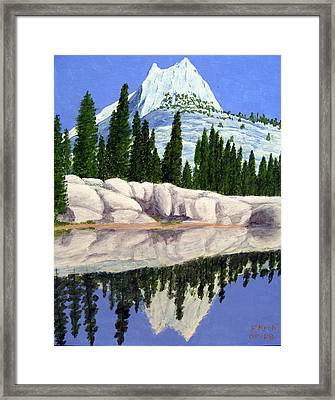 Framed Print featuring the painting Cathedral Peak by Frederic Kohli
