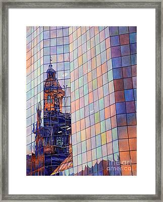 Cathedral Reflection Santiago Framed Print by Ryan Fox