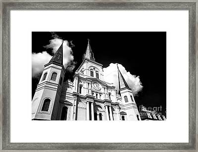 Cathedral Rising Infrared Framed Print by John Rizzuto