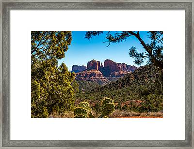 Cathedral Rock #1 Framed Print by Jon Manjeot
