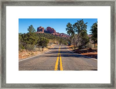 Cathedral Rock #2 Framed Print by Jon Manjeot