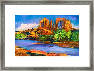 Cathedral Rock Afternoon Framed Print by Elise Palmigiani