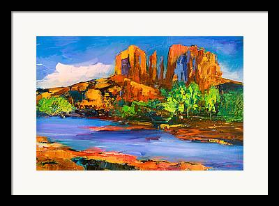 Red Rock Crossing Paintings Framed Prints