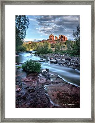 Cathedral Rock And Oak Creek 3381 Framed Print by Dan Beauvais