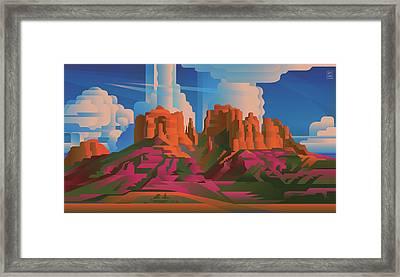 Cathedral Rock Arizona Framed Print