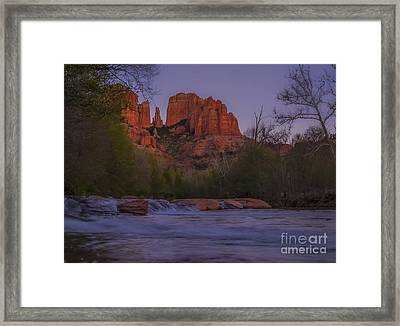 Cathedral Rock At Dusk Framed Print by Amy Sorvillo