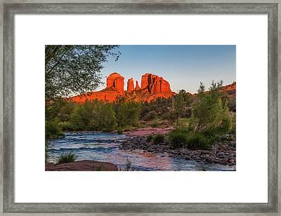 Cathedral Rock At Red Rock Crossing Framed Print