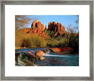 Cathedral Rock At Redrock Crossing Framed Print by Crystal Garner