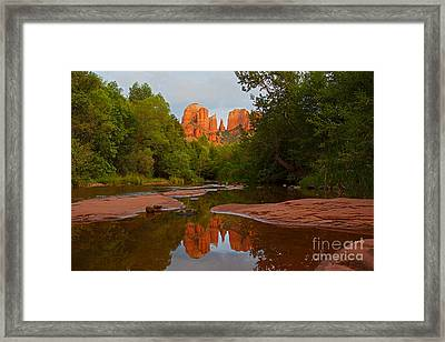 Cathedral Rock At Sunset  Framed Print by Ruth Jolly